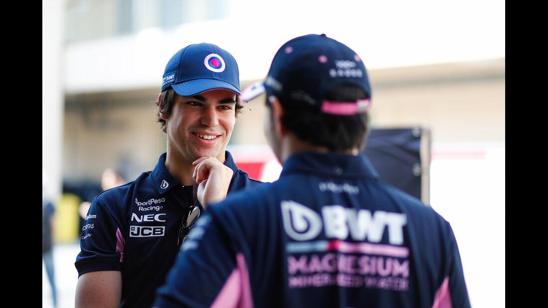Lance Stroll - Sergio Perez - Racing Point - GP Abu Dhabi - Formel 1 - Donnerstag - 28.11.2019