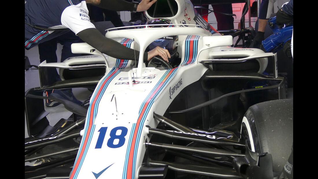 Lance Stroll - Williams - Barcelona F1-Test 2018 - Tag 1