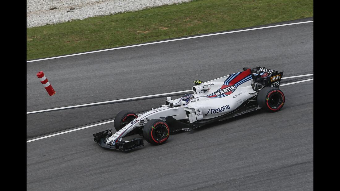 Lance Stroll - Williams - Formel 1 - GP Malaysia - Sepang - 29. September 2017