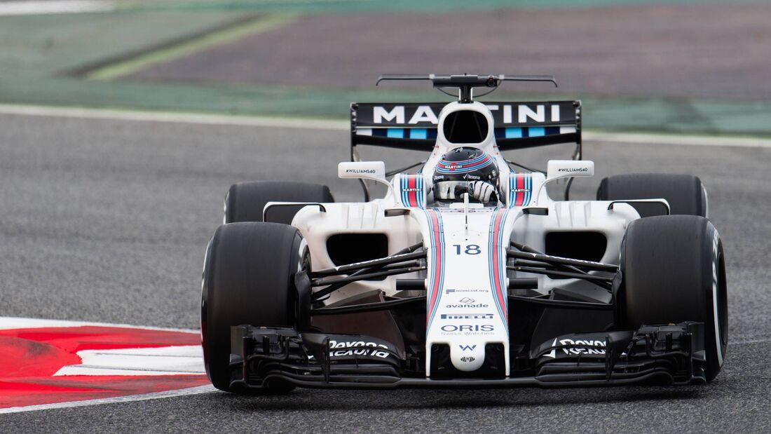 Lance Stroll - Williams - Formel 1 - Testfahrten Barcelona - 28.02.2017