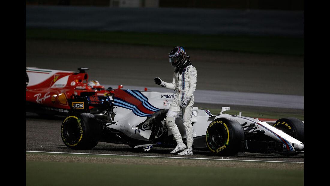 Lance Stroll - Williams - GP Bahrain 2017 - Rennen