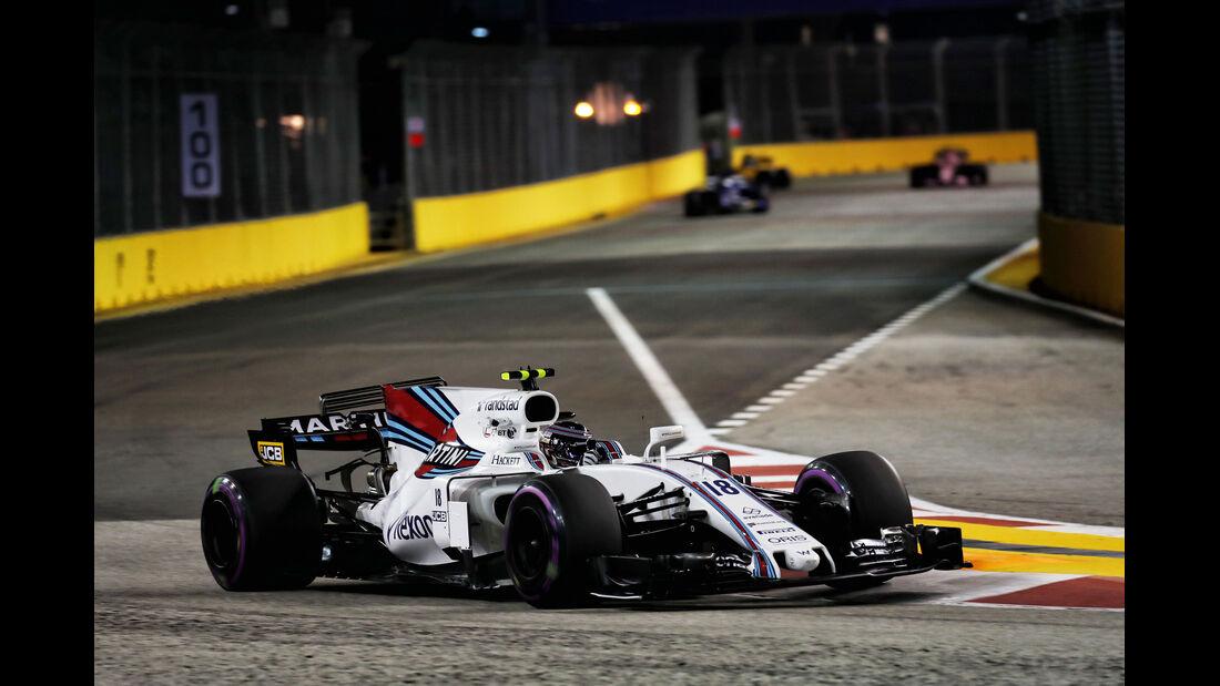 Lance Stroll - Williams - GP Singapur - Formel 1 - Freitag - 15.9.2017