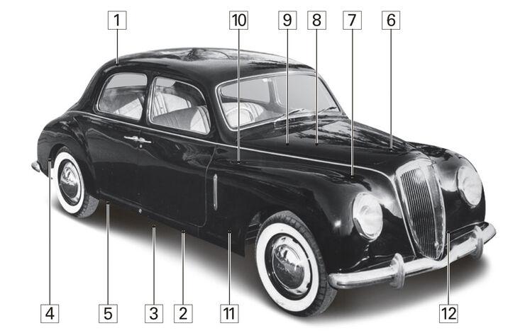 Lancia Aurelia B10, Igelbild, Schwachpunkte