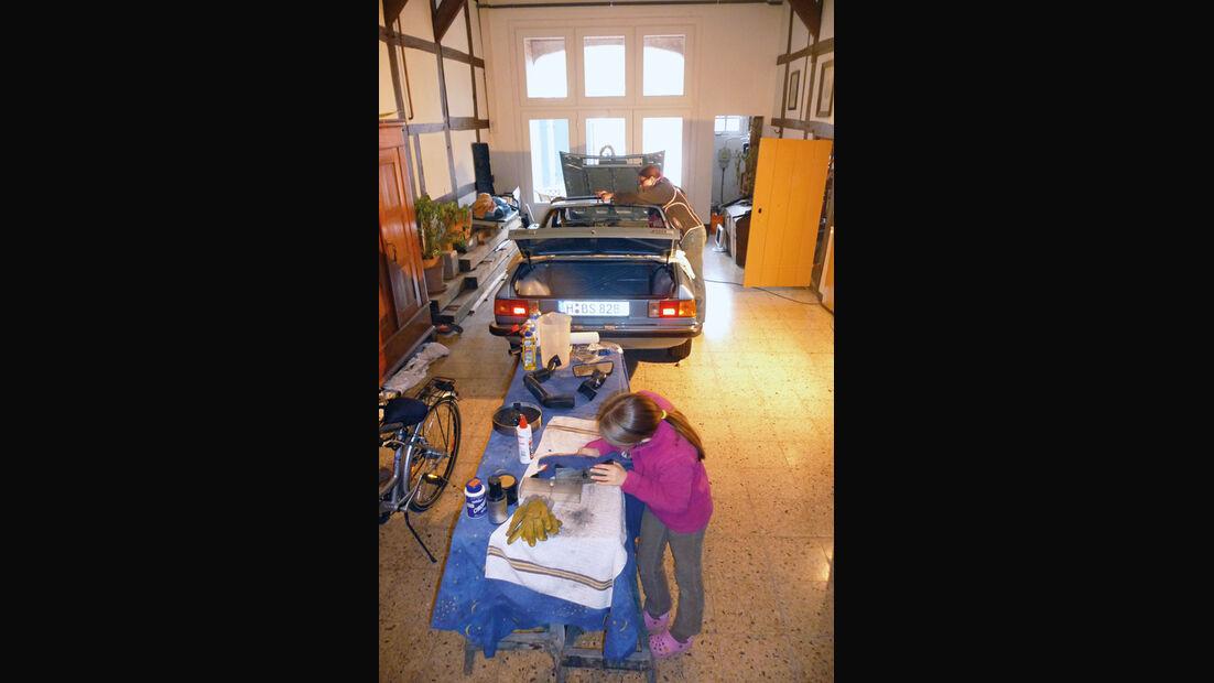 Lancia Beta Spider, Garage, Werkstatt