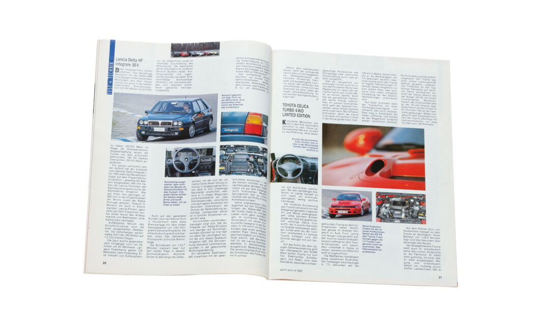 Lancia Delta HF integrale, Heft, Alter Artikel