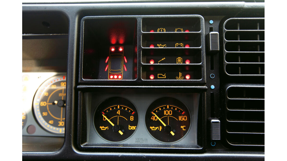 Lancia Delta HF integrale, Mttelkonsole