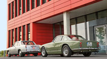 Lancia Flaminia Coupé 3B 2800, Maserati 3500 GTI S Sebring, Heckansicht