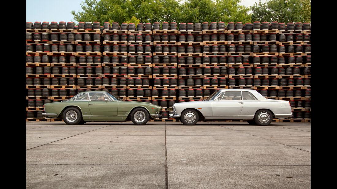 Lancia Flaminia Coupé 3B 2800, Maserati 3500 GTI S Sebring, Seitenansicht
