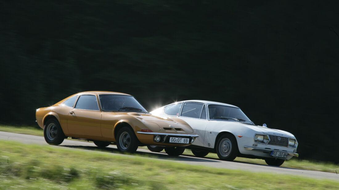 Lancia Fulvia 1,3 Sport Zagato und Opel GT