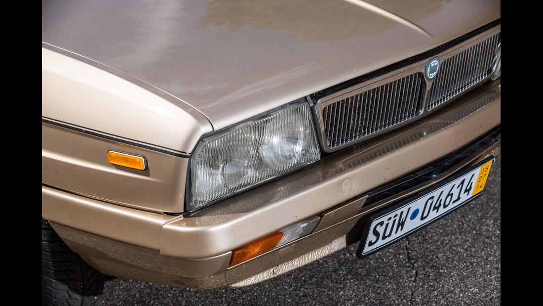 Lancia Gamma Coupé, Frontscheinwerfer, Kühlergrill
