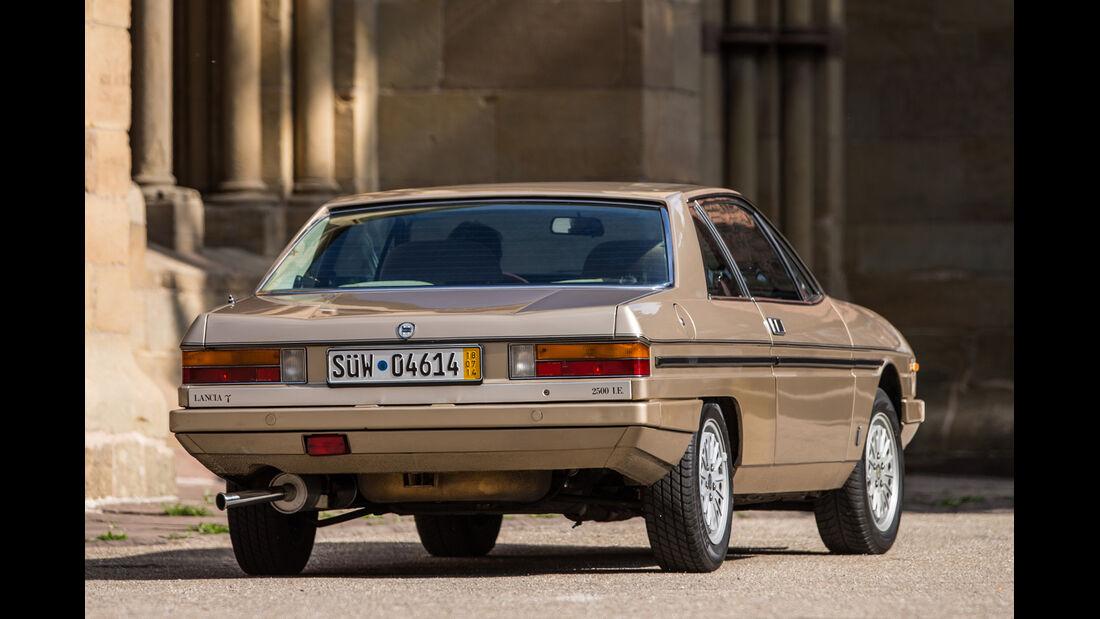 Lancia Gamma Coupé, Heckansicht