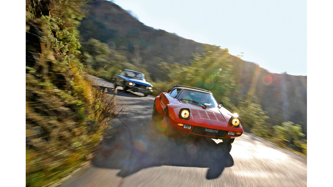 Lancia Stratos HF, Lancia Fulvia 1.3, Frontansicht