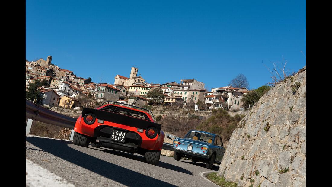 Lancia Stratos HF, Lancia Fulvia 1.3, Heckansicht