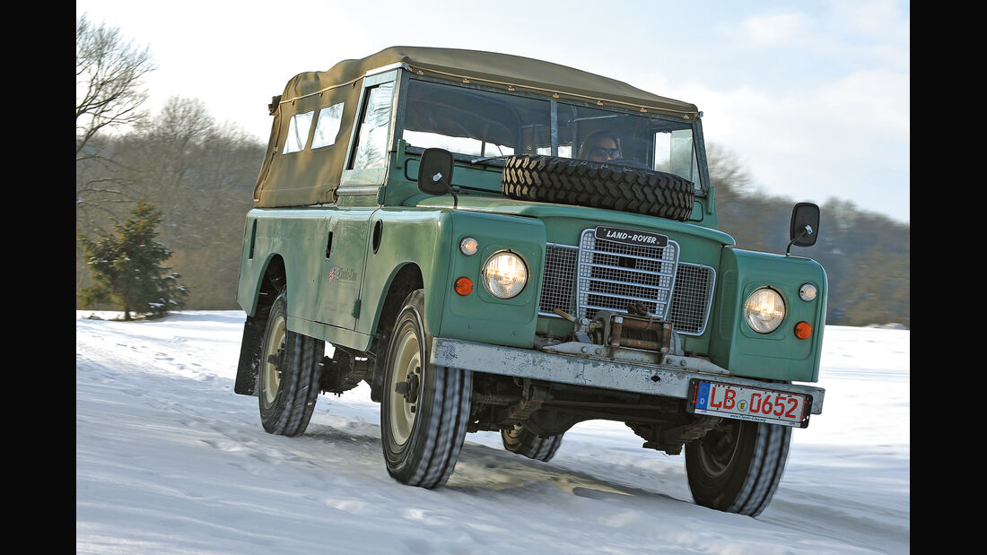 Land Rover 109 Serie 3, Frontansicht