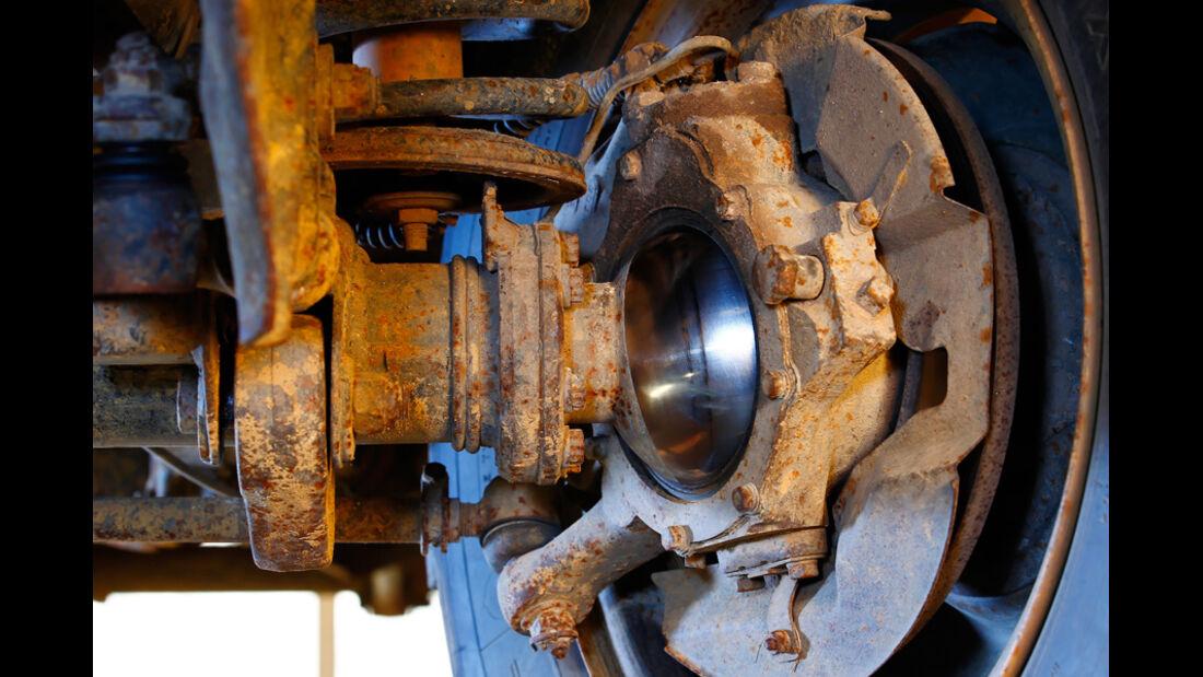Land Rover 90, 110, Defender, Detail, Radaufhängung, Rad