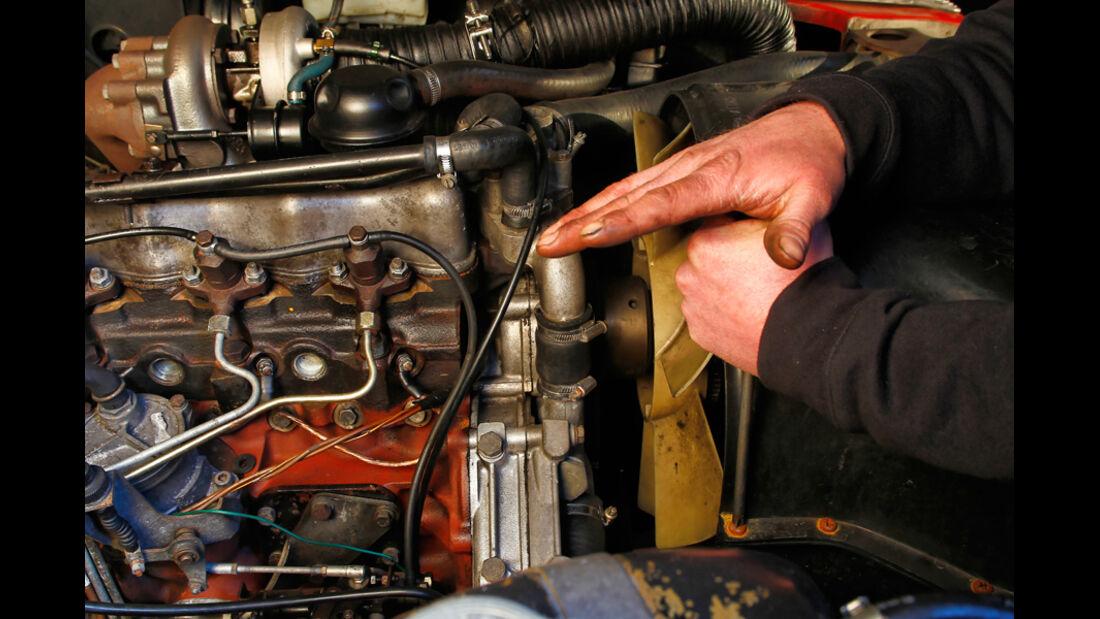 Land Rover 90, 110, Defender, Detail, Zahnriemen, Zahnriemenwechsel
