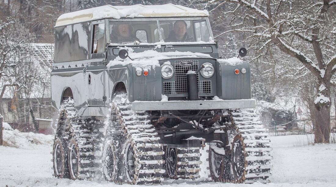 Land Rover Cuthbertson, Frontansicht