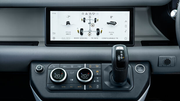 Land Rover Defender 110, Interieur