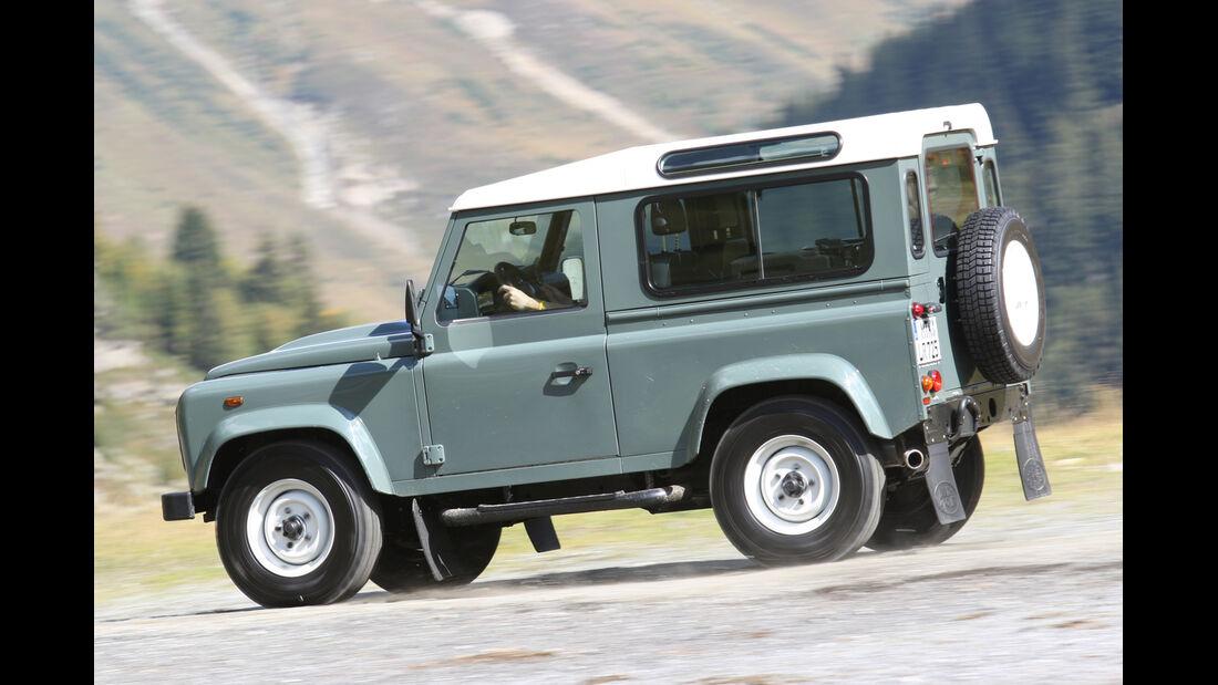 Land Rover Defender 90, Seitenansicht
