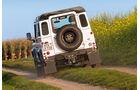 Land Rover Defender 90 Station Wagon, Heckansicht