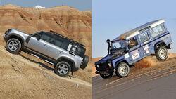Land Rover Defender Generationen-Vergleich