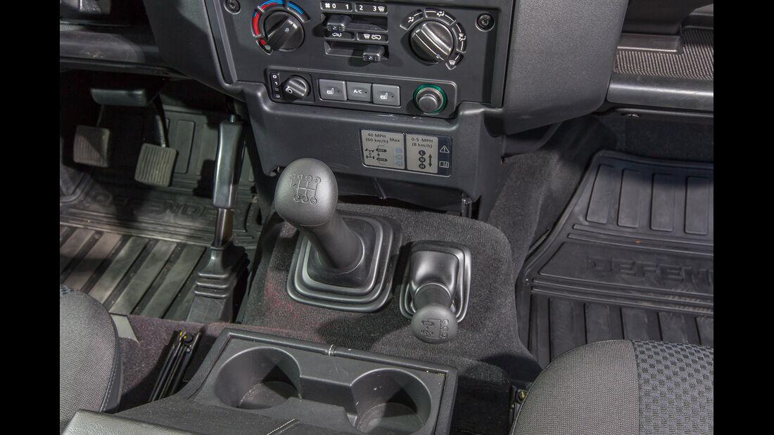 Land Rover Defender, Schalthebel, Scjaltknauf