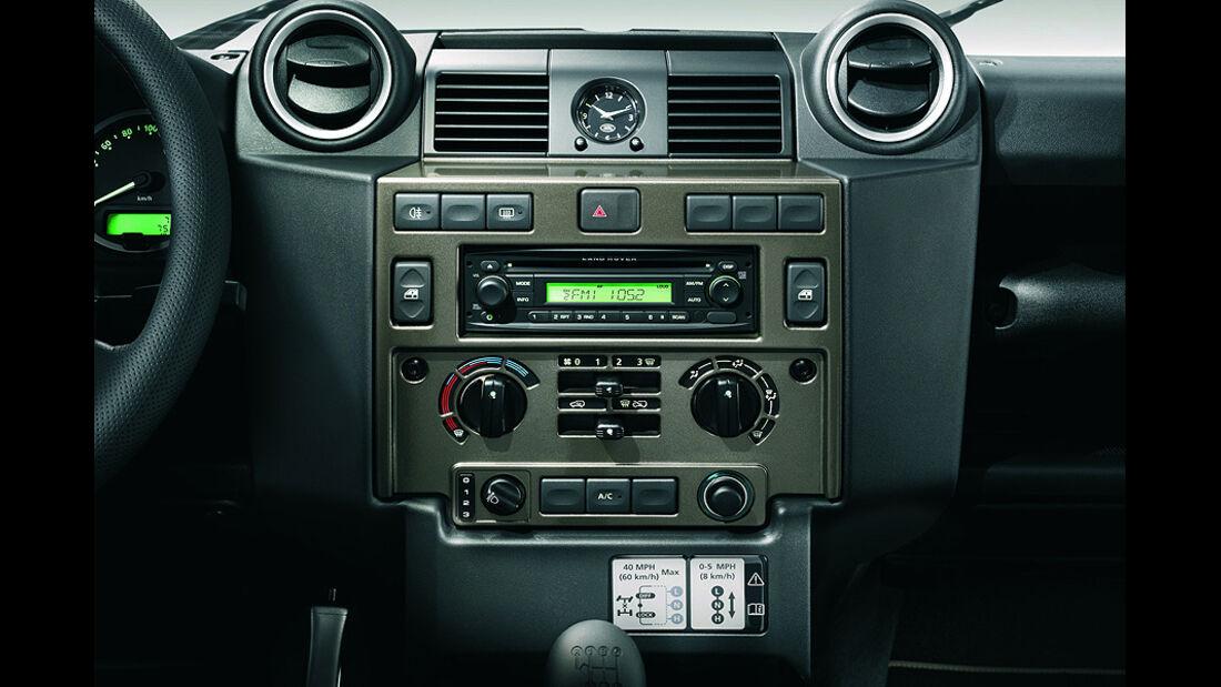 Land Rover Defender Sondermodell Rough, Mittelkonsole
