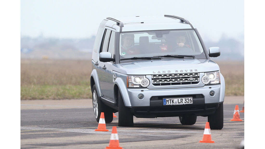 Land Rover Discovery, Frontansicht, Slalom