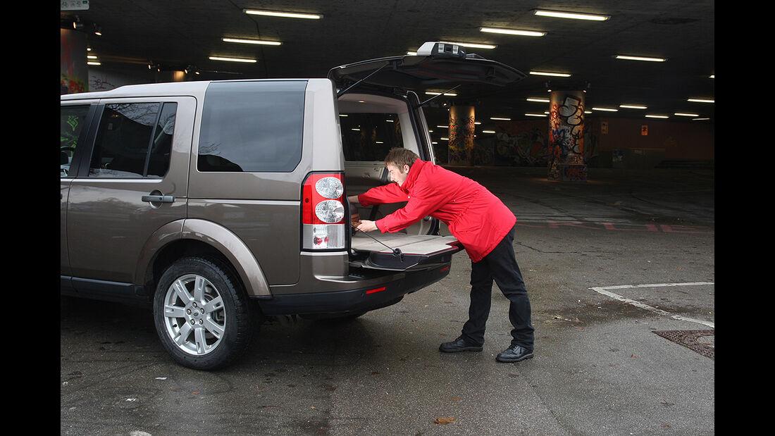 Land Rover Discovery, Kofferraum, Beladen, Heckklappe