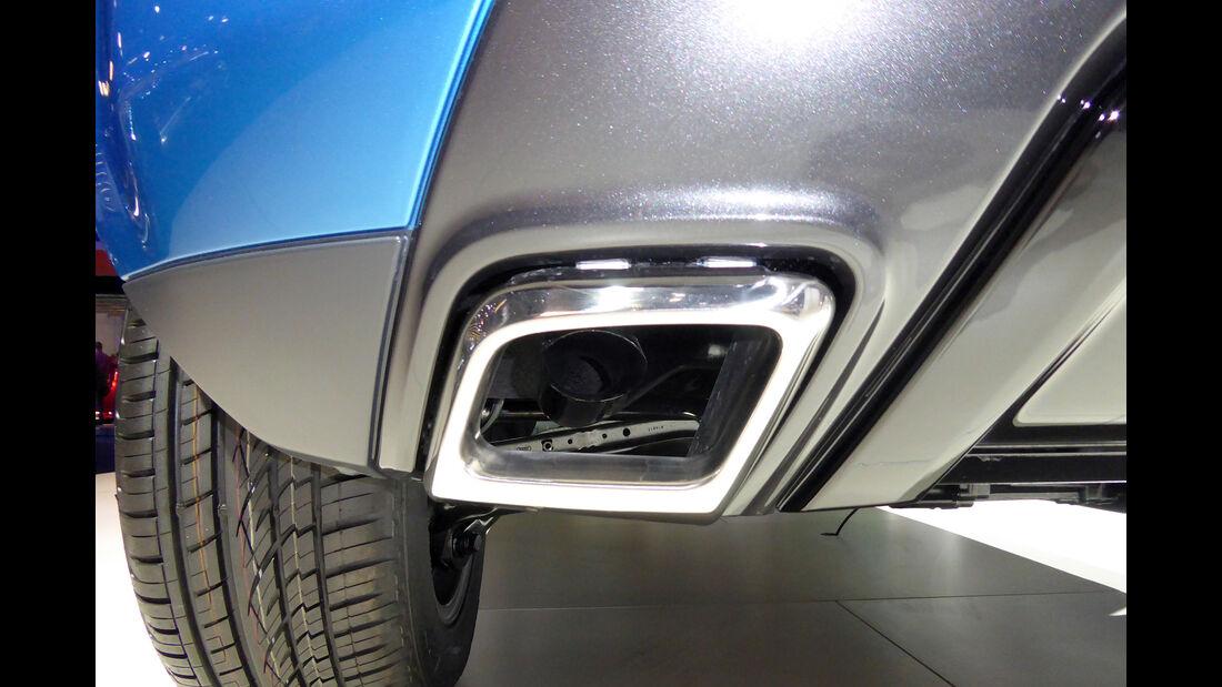 Land Rover Evoque - Auspuff - IAA Frankfurt 2017