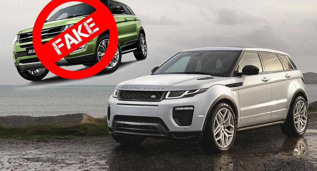Land Rover Evoque Landwind X7 Urteil Fake