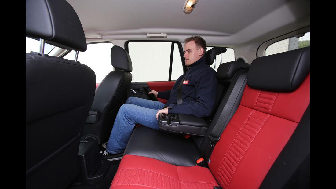 Land Rover Freelander 2.2 SD4, Rücksitz, Beinfreiheit