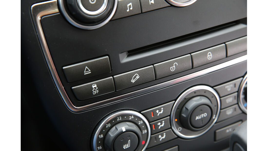 Land Rover Freelander SD4, Mittelkonsole
