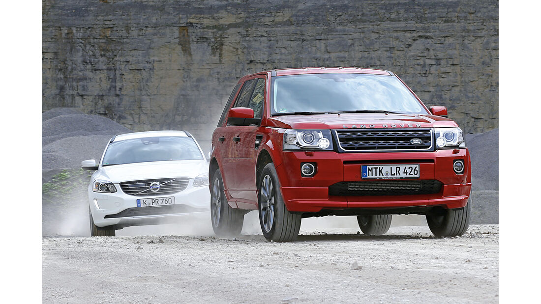 Land Rover Freelander, Volvo XC 60, Frontansicht