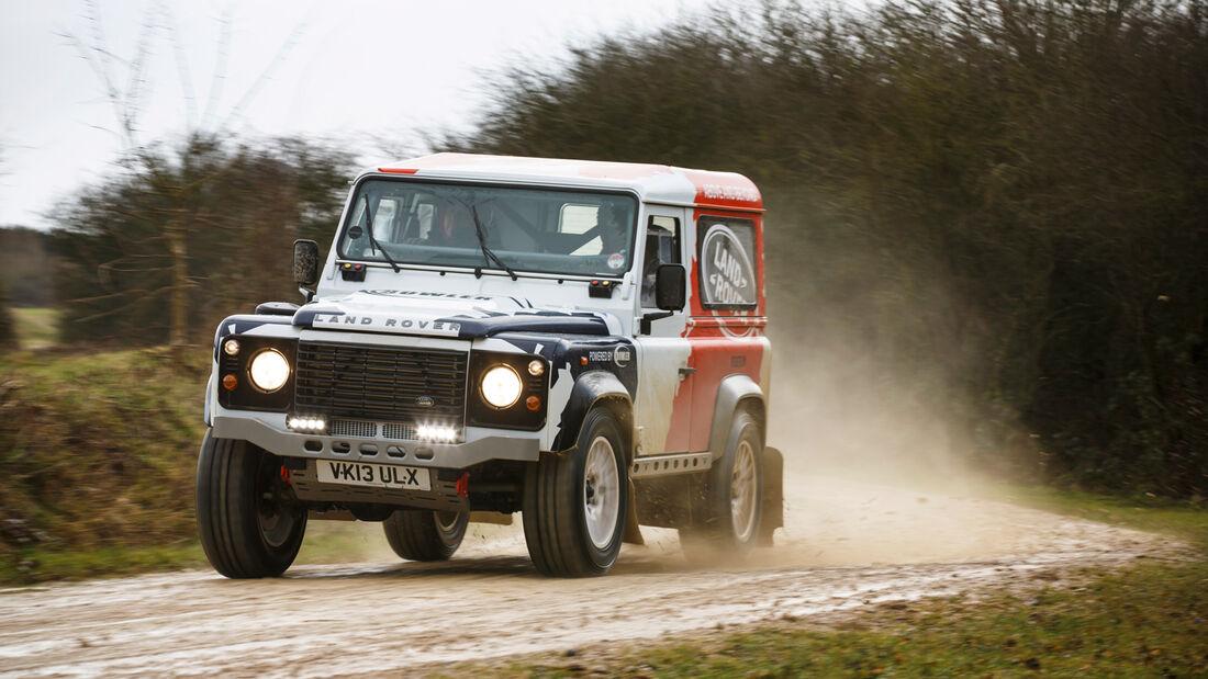 Land Rover Rallye-Defender, Frontansicht