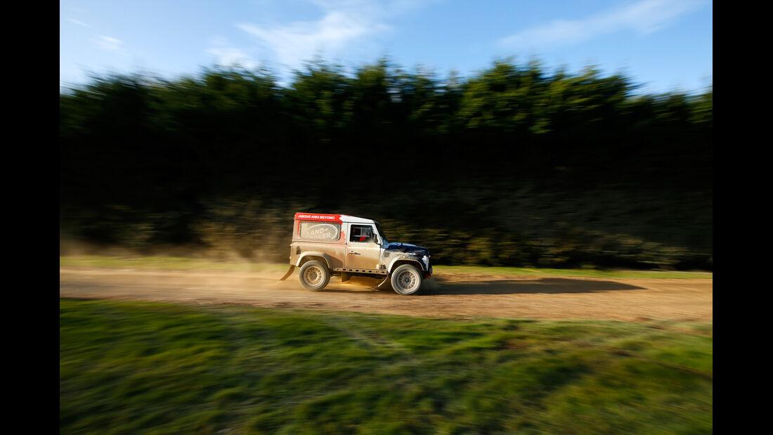 Land Rover Rallye-Defender, Seitenansicht