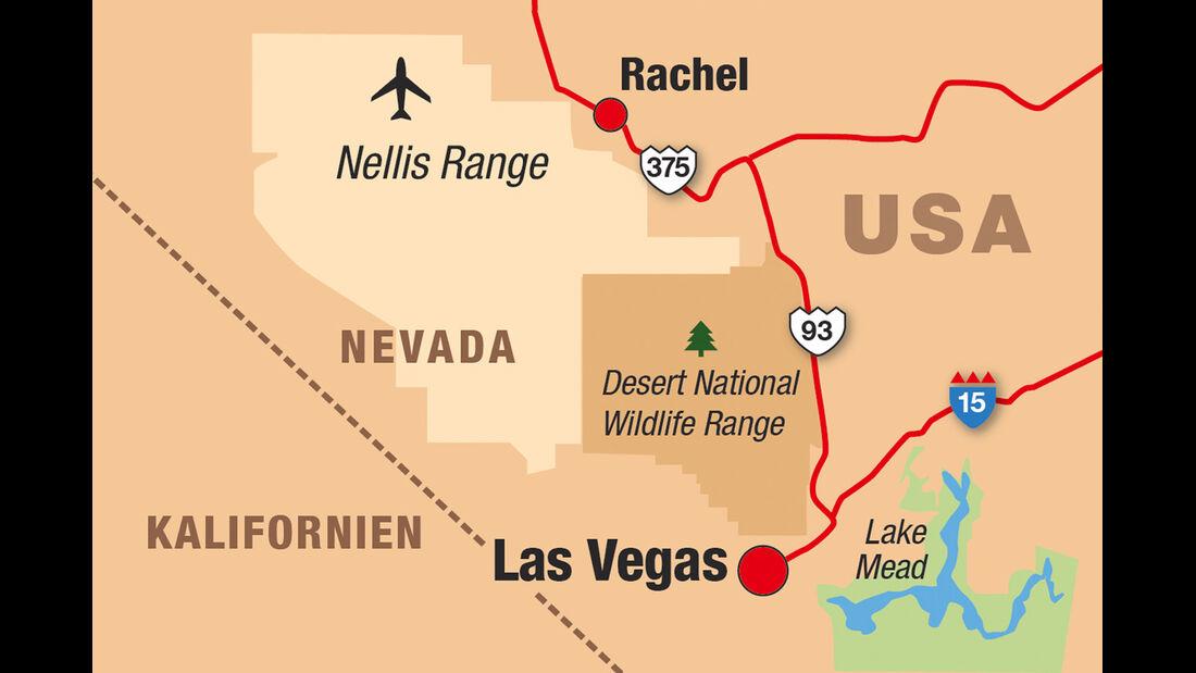 Landkarte, USA, Nevada