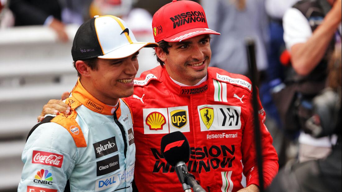 Lando Norris - Carlos Sainz - Formel 1 - GP Monaco - 23. Mai 2021
