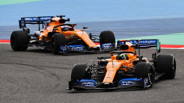 Lando Norris & Carlos Sainz - McLaren - F1-Test Bahrain - 3. April 2019
