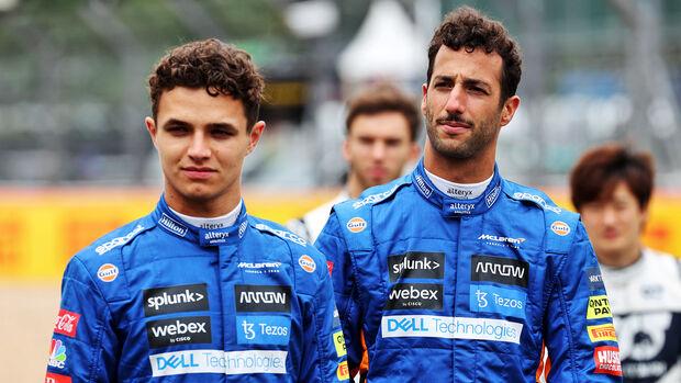 Lando Norris & Daniel Ricciardo - GP England 2021