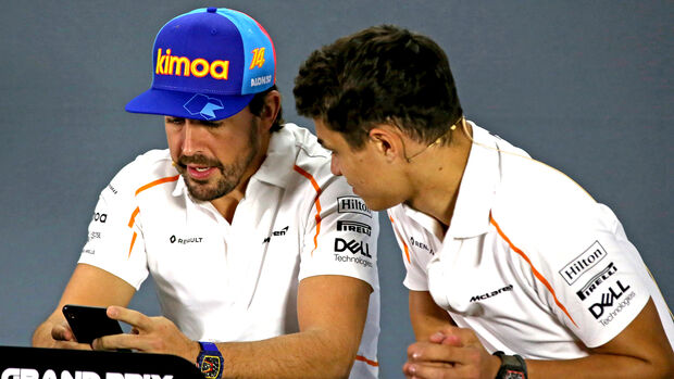 Lando Norris & Fernando Alonso - Formel 1 - 2018