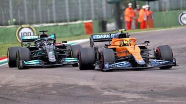 Lando Norris & Lewis Hamilton - GP Imola 2021