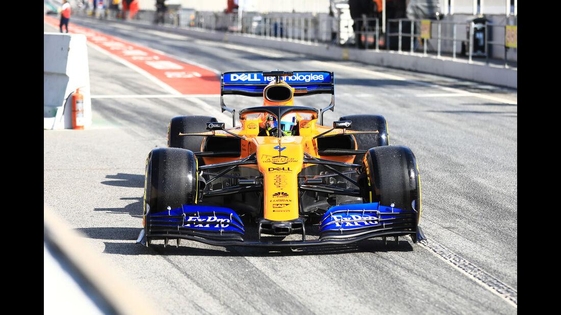 Lando Norris - McLaren - Barcelona - F1-Test - 28. Februar 2019