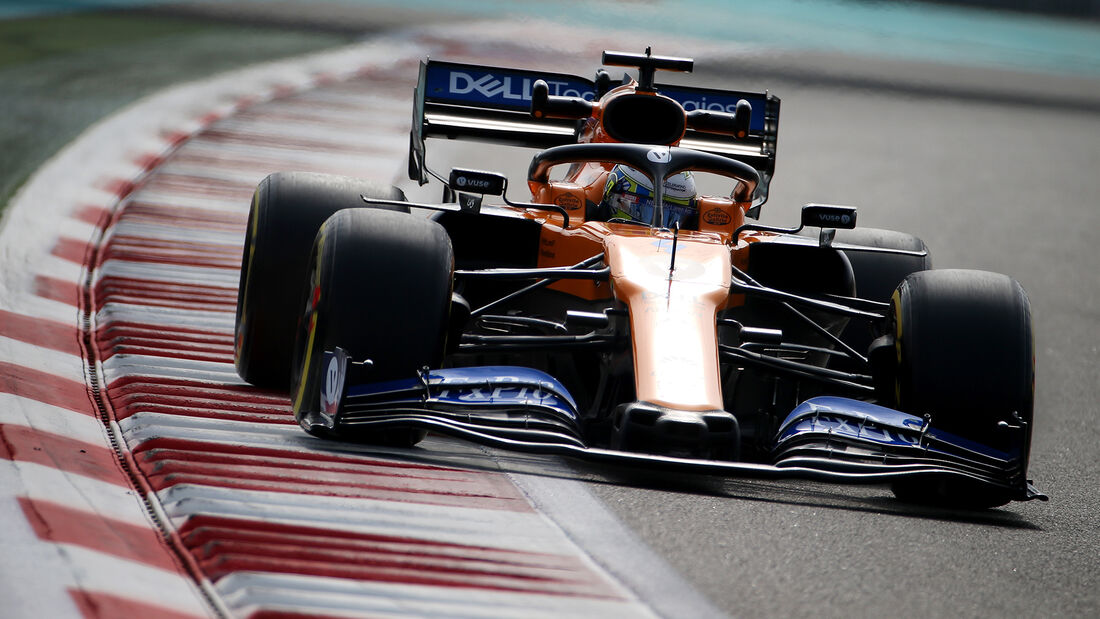Lando Norris - McLaren - F1-Test - Abu Dhabi - 3. Dezember 2019