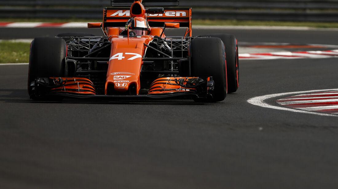 Lando Norris - McLaren - Formel 1 - Budapest - Test - 2. August 2017