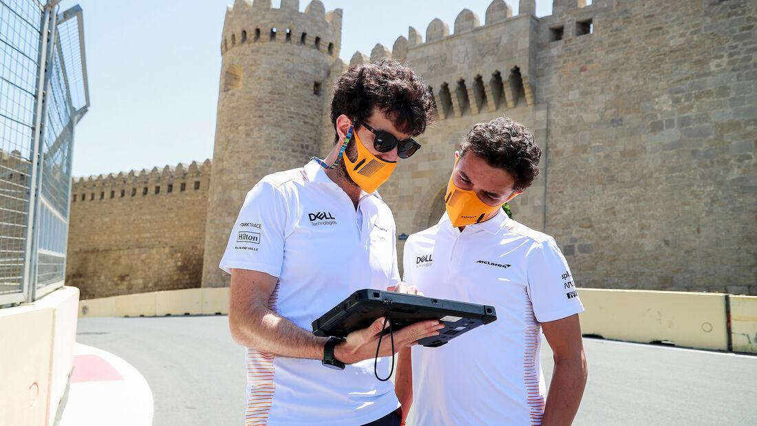 Lando Norris - McLaren - Formel 1 - GP Aserbaidschan - Baku - Donnerstag - 3.6.2021