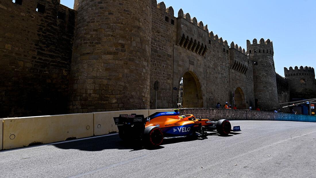 Lando Norris - McLaren - Formel 1 - GP Aserbaidschan - Baku - Freitag - 4.6.2021
