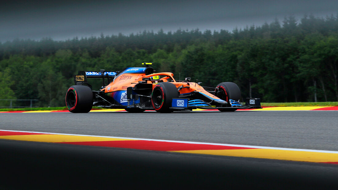 Lando Norris - McLaren - Formel 1 - GP Belgien - Spa-Francorchamps - 27. August 2021
