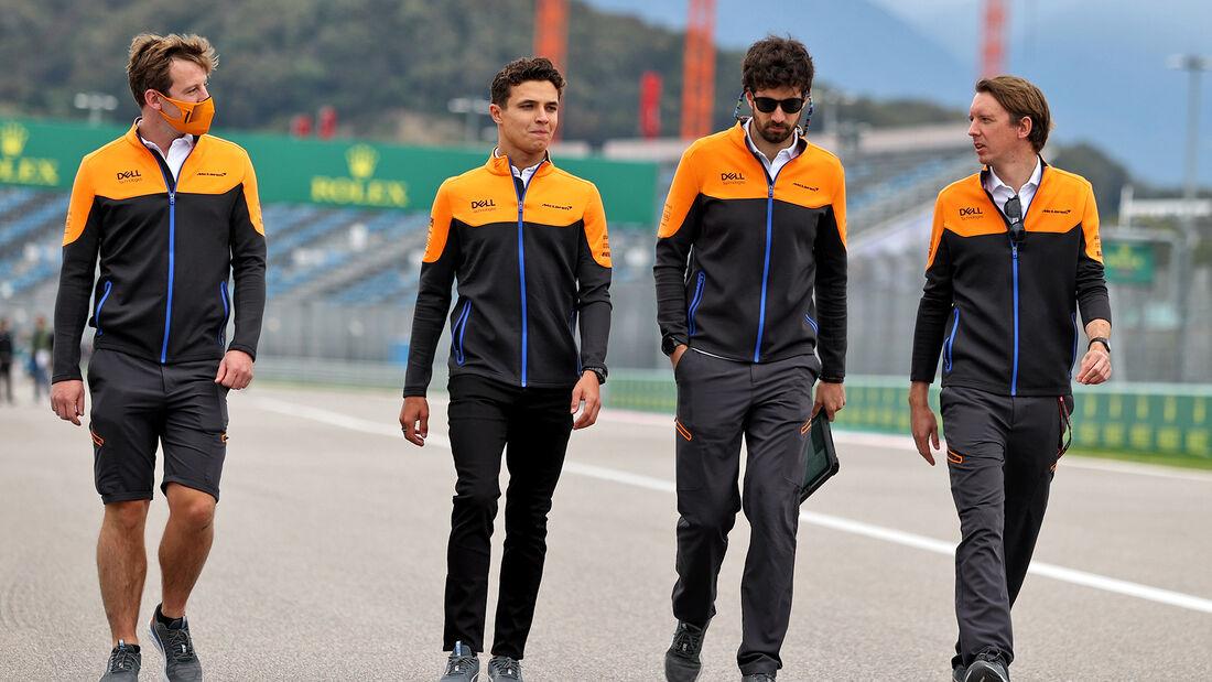 Lando Norris - McLaren - Formel 1 - GP Russland - Sotschi - Donnerstag - 23.09.2021