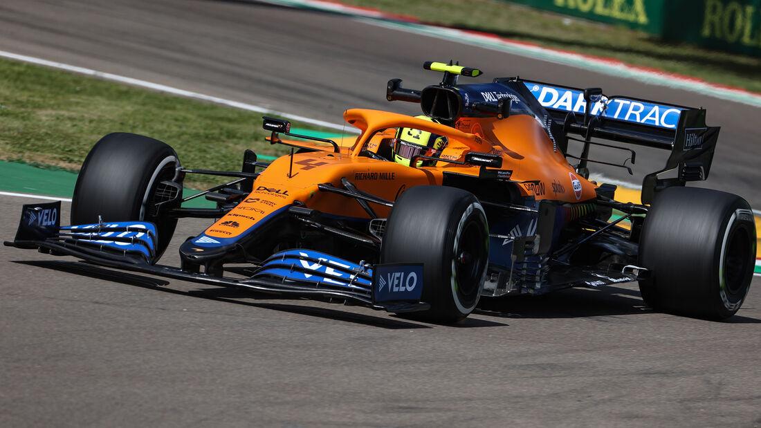 Lando Norris - McLaren - Formel 1 - Imola - GP Emilia-Romagna - 16. April 2021